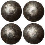 Grupo de cabeças do rebite isoladas no branco Fotografia de Stock Royalty Free