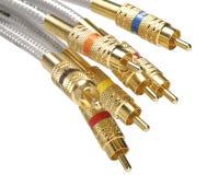 Grupo de cables audios/video Fotos de archivo libres de regalías