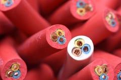 Grupo de cables eléctricos Foto de archivo libre de regalías