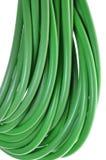 Grupo de cabos coaxiais verdes fotos de stock