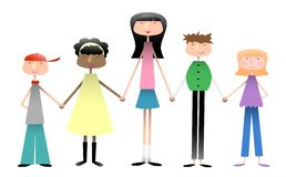 Grupo de cabritos ilustración del vector