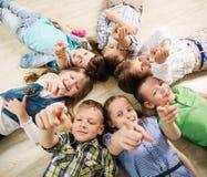 Grupo de cabritos felices Imagen de archivo libre de regalías