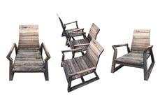 Grupo de cadeira de madeira Imagens de Stock Royalty Free