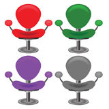 Grupo de cadeiras modernas Foto de Stock Royalty Free