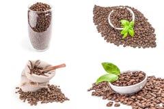 Grupo de café em um fundo Imagens de Stock Royalty Free