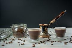 Grupo de café para de duas pessoas Fotos de Stock