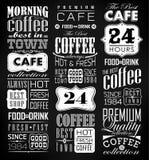 Grupo de café retro do vintage Fotografia de Stock