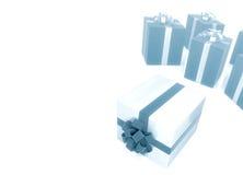 Grupo de caixa de presente no branco Imagem de Stock