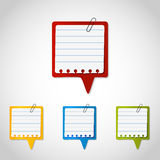 Grupo de caixa de texto colorida Imagens de Stock