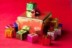 Grupo de caixa dos presentes de Natal Imagem de Stock Royalty Free