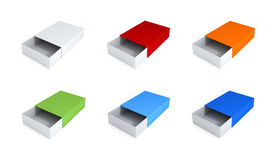 Grupo de caixas coloridas. Imagens de Stock Royalty Free