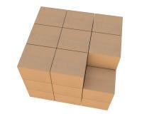 Grupo de caixas de cartão empilhadas Imagem de Stock Royalty Free
