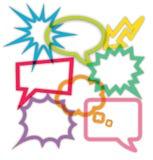 Grupo de caixas de diálogo Imagem de Stock