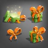 Grupo de caixas de presente ilustração royalty free