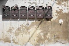 Grupo de caixas postais Foto de Stock Royalty Free