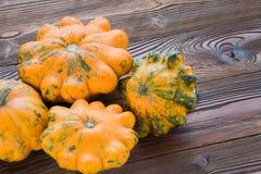 Grupo de calabaza anaranjada Fotografía de archivo