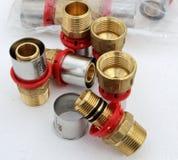 Grupo de calor do abastecimento de água das válvulas Fotos de Stock Royalty Free