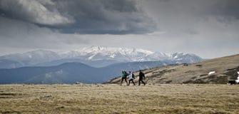 Grupo de caminantes Foto de archivo libre de regalías
