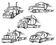 Grupo de caminhão de tanque ilustração do vetor