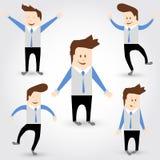 Grupo de caráter do homem de negócios dos desenhos animados Imagem de Stock Royalty Free
