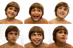 Grupo de caras com emoções diferentes Fotos de Stock Royalty Free