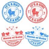 Selos do bebé e do bebé ilustração do vetor