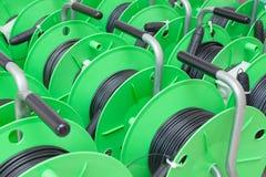 Grupo de carretes de cable para la nueva instalación Imagen de archivo libre de regalías