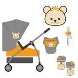 Grupo de carrinho de criança bonito, vetor/ilustrador Foto de Stock