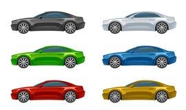 Grupo de carro colorido ilustração stock