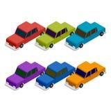 Grupo de carro isométrico Imagem de Stock