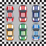 Grupo de carros de competência Foto de Stock Royalty Free