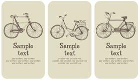 Grupo de cartão da bicicleta do vintage Imagens de Stock Royalty Free