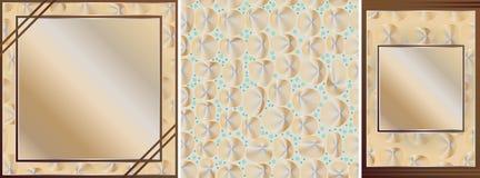 Grupo de cartão da cor do ouro Imagens de Stock Royalty Free