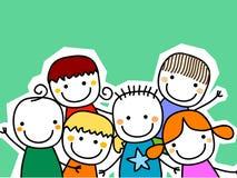 Grupo de cartão das crianças Fotos de Stock