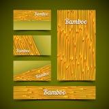 Grupo de cartão de bambu Imagens de Stock Royalty Free