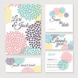 Grupo de cartão do convite do casamento Imagens de Stock Royalty Free