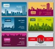 Grupo de cartão do vetor dos bens imobiliários ilustração do vetor