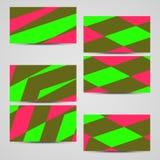 Grupo de cartão do vetor para seu projeto. Imagens de Stock Royalty Free