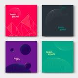 Grupo de cartões abstratos ilustração stock