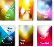 Grupo de cartões com fundos abstratos do colorfull Imagem de Stock