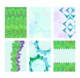 Grupo de cartões com imagens abstratas Foto de Stock