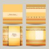 Grupo de cartões com projeto africano étnico geométrico Imagem de Stock