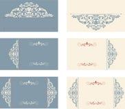 Grupo de cartões com teste padrão do victorian Imagens de Stock Royalty Free