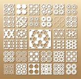 Grupo de cartões cortados Imagem de Stock