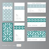 Grupo de cartões da visita islâmico Imagens de Stock Royalty Free