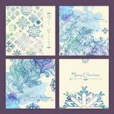 Grupo de cartões de Natal do feriado Fotografia de Stock Royalty Free