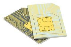 Grupo de cartões de SIM Fotografia de Stock Royalty Free