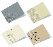 Grupo de cartões do assunto pessoal Fotografia de Stock