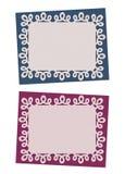 Grupo de cartões do azul e da ameixa do Natal Fotografia de Stock Royalty Free