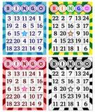 Grupo de cartões do Bingo ilustração royalty free